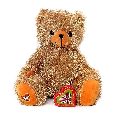 Amazon Com My Baby S Heartbeat Bear Tan Teddy Bears Stuffed
