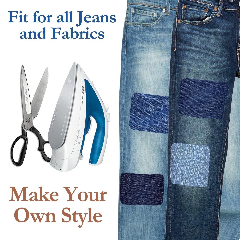 Parches Termoadhesivos, Muscccm 15 Piezas Parches de Vaqueros Coser o Planchar en Los Parches Apliques para Ropa Camiseta Jeans,5 Colores(5 x 5 ...