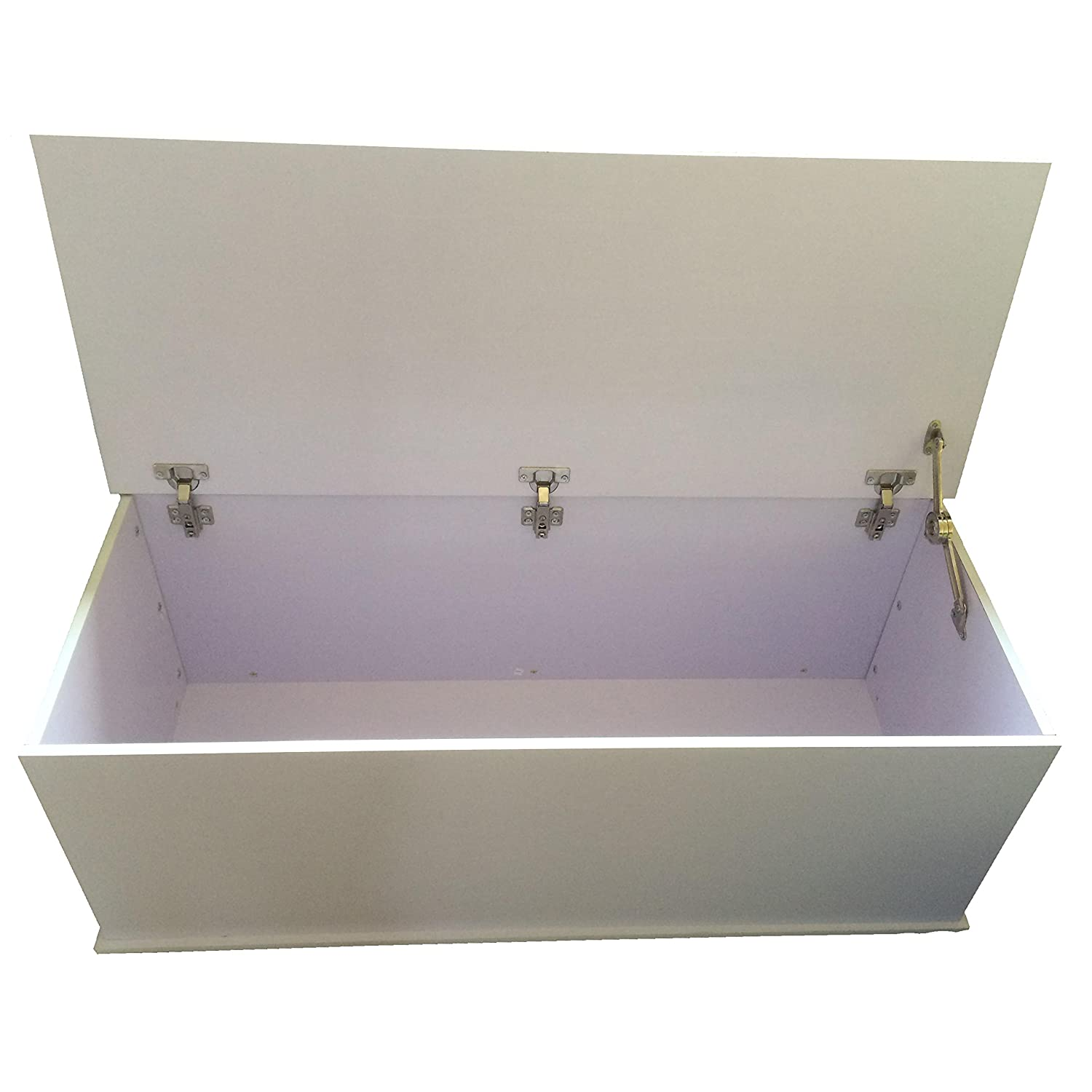 Redstone White Ottoman Storage Chest   Hinge Can Be Locked With Pin To  Prevent Lid From Dropping When Open: Amazon.co.uk: Kitchen U0026 Home