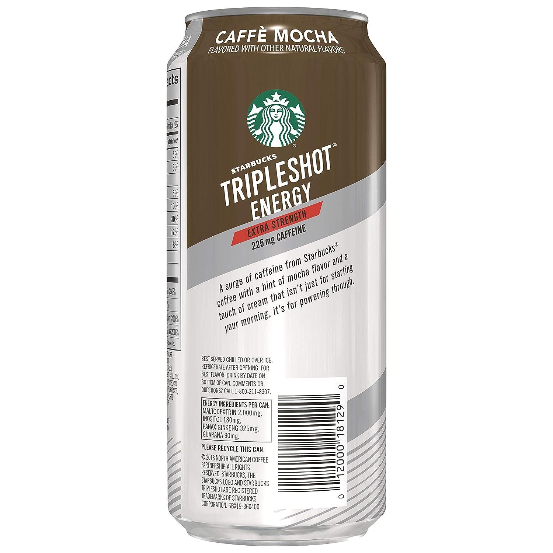 Starbucks Tripleshot Cafe Mocha 15 Fl Oz Cans 12 Pack