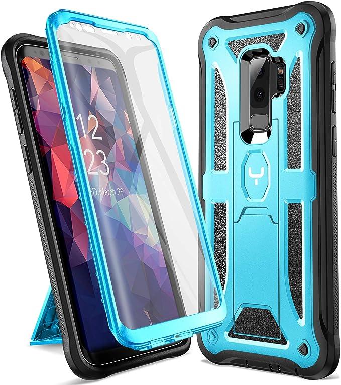 YOUMAKER Galaxy S9+ Plus Caso, soporte de protección resistente con protector de pantalla incorporado a prueba de golpes para Samsung Galaxy S9 Plus 6.2 pulgadas (versión 2018): Amazon.es: Electrónica