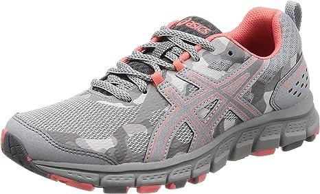Asics Gel-Scram 4 Trail - Zapatillas de running para mujer, 1012A039, gris, 8.5 US - 40 EU: Amazon.es: Deportes y aire libre