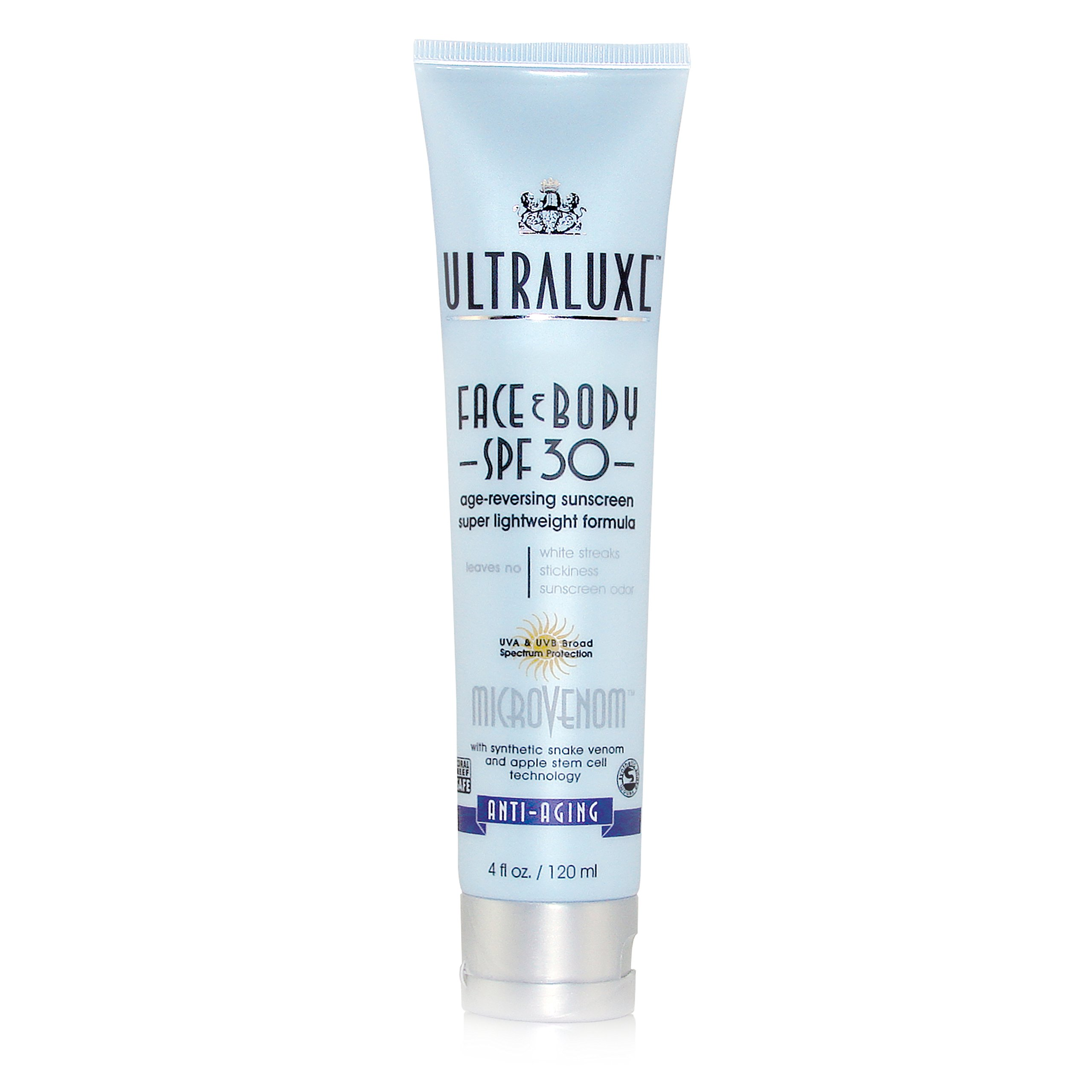 Ultraluxe Micro-Venom Face and Body SPF 30 Sunscreen, 4 Oz