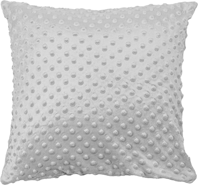 Federe Cotone-Minky Bambino federa cuscino 40 x 40 bimbo decorativo per la cameretta dei bambini con cerniera Grigio