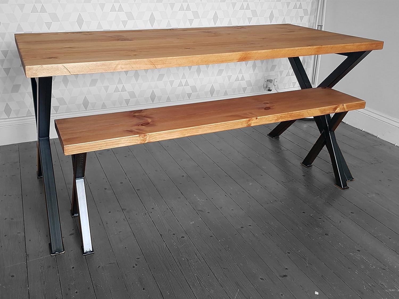 dorket rústico Industrial tablones de madera recuperada mesa de ...