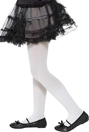 Tights Black and White Striped Age 6-12 Children Girl Smiffys Tights /& Stockings