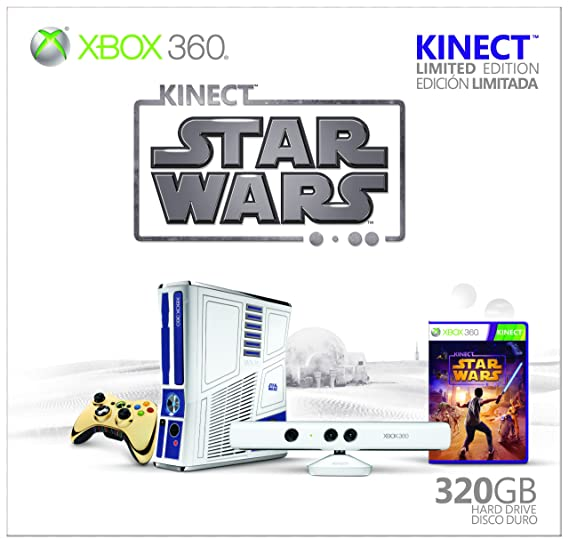 Microsoft Xbox 360 320GB, Kinect, Star Wars Limited Edition 320GB ...