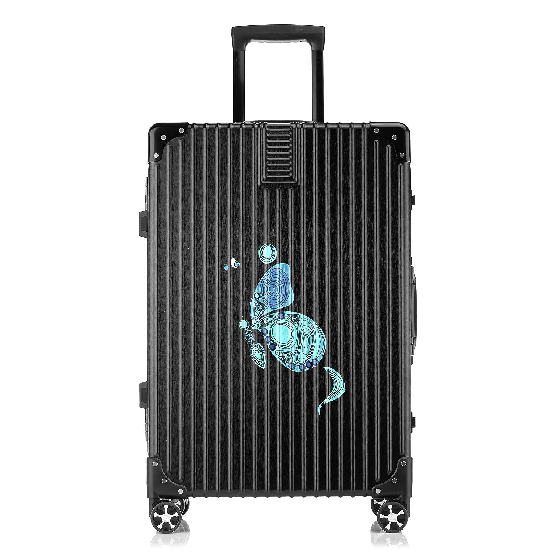 GSHCJ スーツケース きれいな蝶 キャリーケース 20インチ おしゃれ ブラック Tsaロック搭載 プリント ハード 超軽量 軽い 機内持込 ロックファスナー 旅行 ビジネス 出張 海外 修学旅行 丈夫 便利 レディース メンズ 学生 B07S189F72