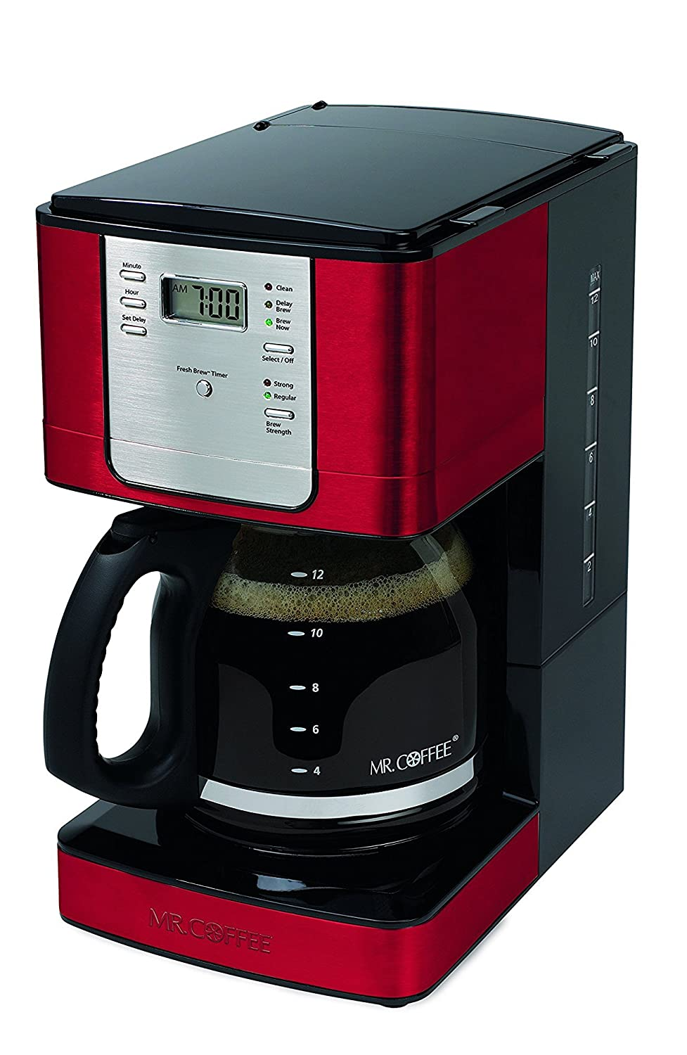 Mr. Coffee JWX36-RB Advanced Brew 12-Cup Programmable Coffee Maker, Red