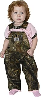 product image for Round House Little Girls Pink Ruffle Camo Overalls (MULTI 4T)