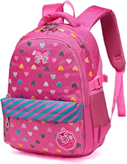 1e598d95ee2f Hearts Printed kids School Backpacks for Girls Children School Bags Bookbags