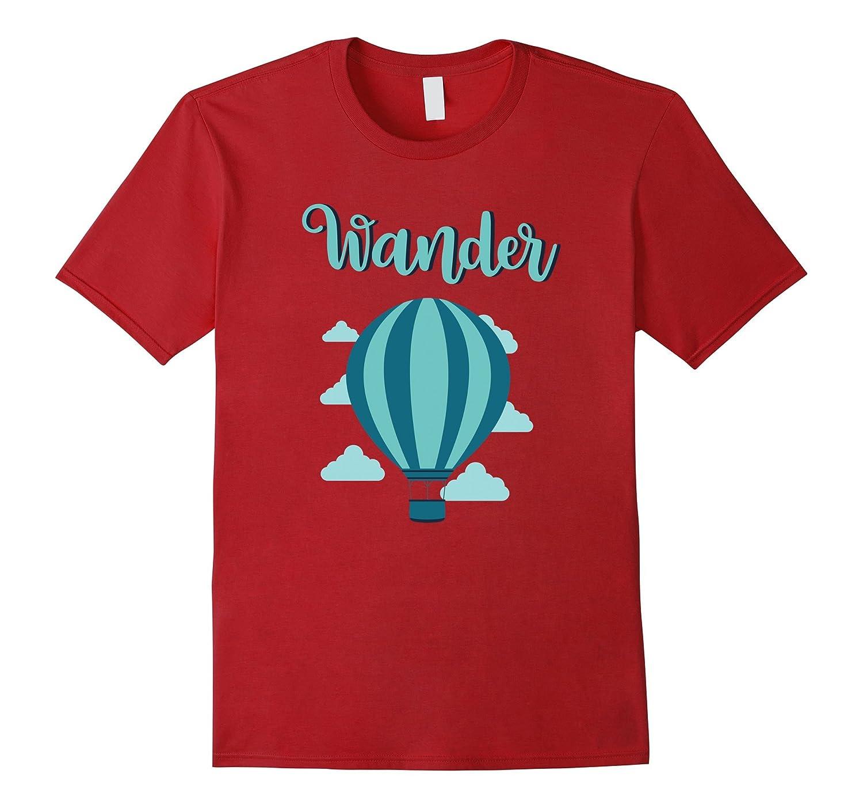 Wander - Hot Air Balloon Light Blue Gift T-Shirt-Art