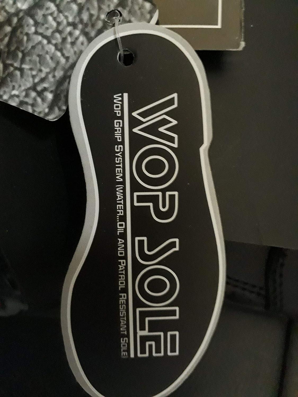 WinNet Stivali stivaletti bassi scarpe modello Falco in pelle nera per moto