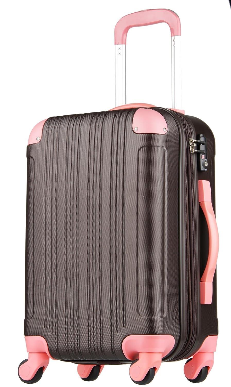 【レジェンドウォーカー】LEGEND WALKER スーツケース 容量拡張 TSAロック 超軽量 マット加工 ファスナー開閉 5082 B0797QX8DN Mサイズ(5~7泊/61(拡張時72)リットル)|チョコ/ピンク チョコ/ピンク Mサイズ(5~7泊/61(拡張時72)リットル)