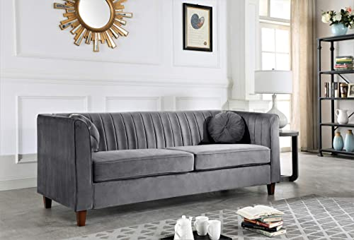 Container Furniture Direct Arvilla Upholstered Chesterfield Sofa