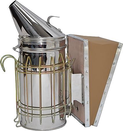2019 Bee Hive Smoker Stainless Steel w// Heat Shield Protection Beekeeping Tool