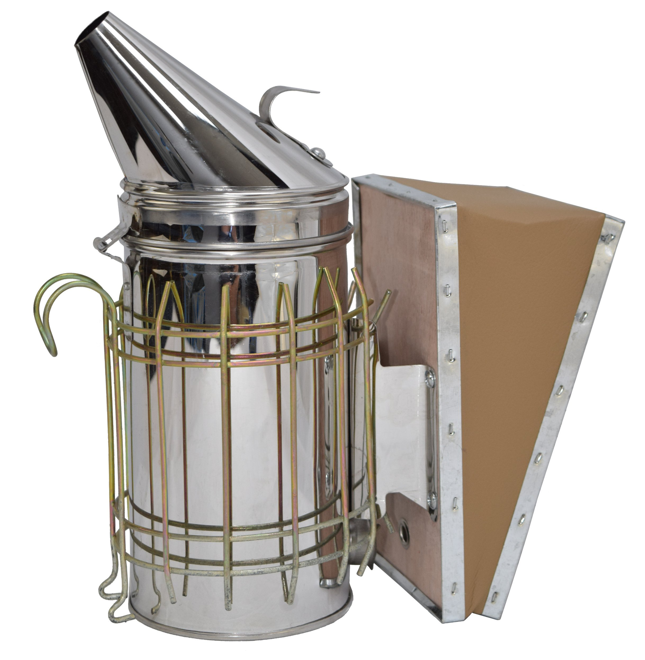 VIVO Stainless Steel Bee Hive Smoker with Heat Shield | Beekeeping Equipment (BEE-V001) by VIVO