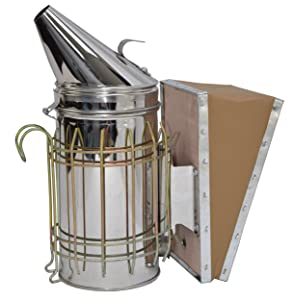 VIVO Stainless Steel Bee Hive Smoker with Heat Shield | Beekeeping Equipment (BEE-V001)