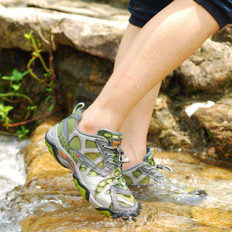 Clorts Women's & Men's Quick Water Shoe Closed Toe Quick Men's Drying Hiking Sandal WT05 B00N8RFC9Q 5.5 M US|Green 13bdcf