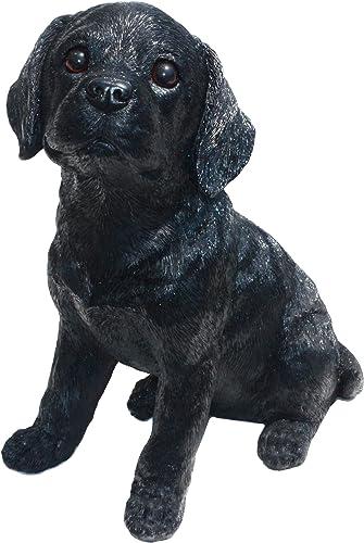 Michael Carr Designs Labrador L Shadow-Black Puppy Love Outdoor Dog Figurine