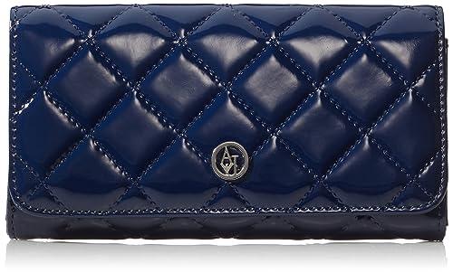 Armani Jeans Shoes & Bags DE B5V41V4 - Cartera para Mujer, Color Azul (BLU