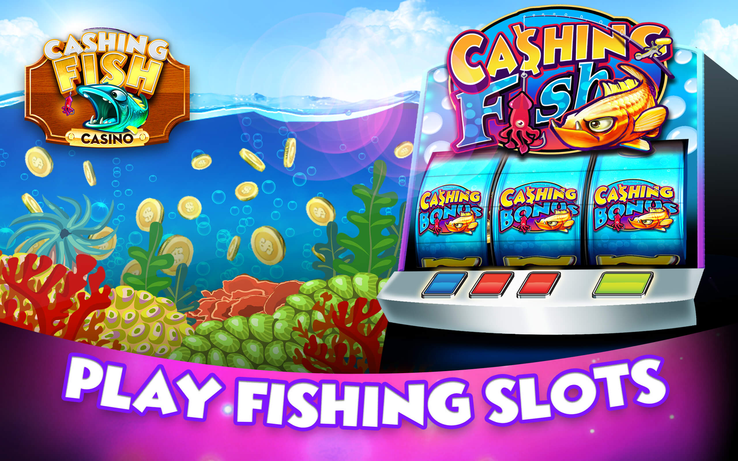 Cashing fish las vegas casino slots free big gold fish for Fish casino slot