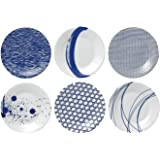 Royal Doulton Pacific Tapas Plates, 6.3-Inch, Blue, Set of 6 (Limited Edition)