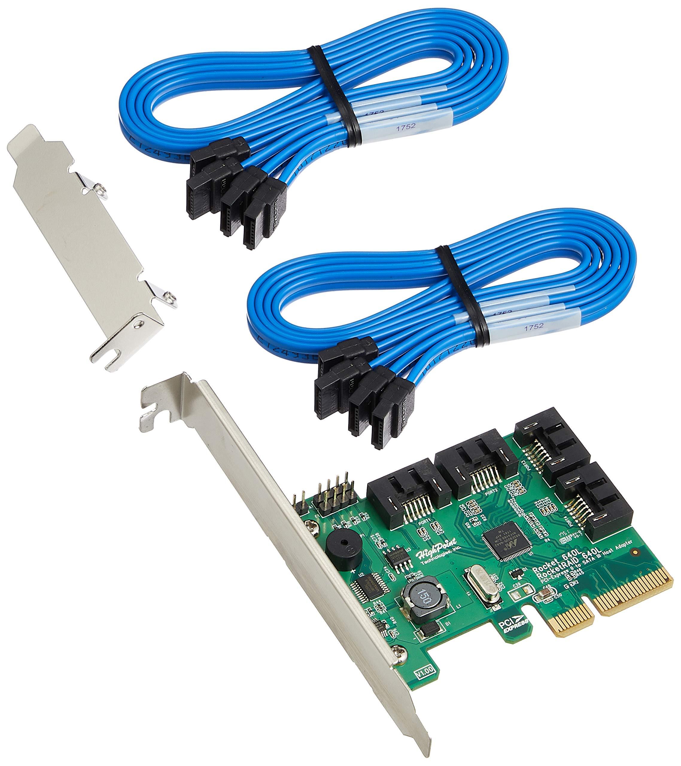 High Point RocketRAID 640L Internal 4 SATA Port PCI-Express