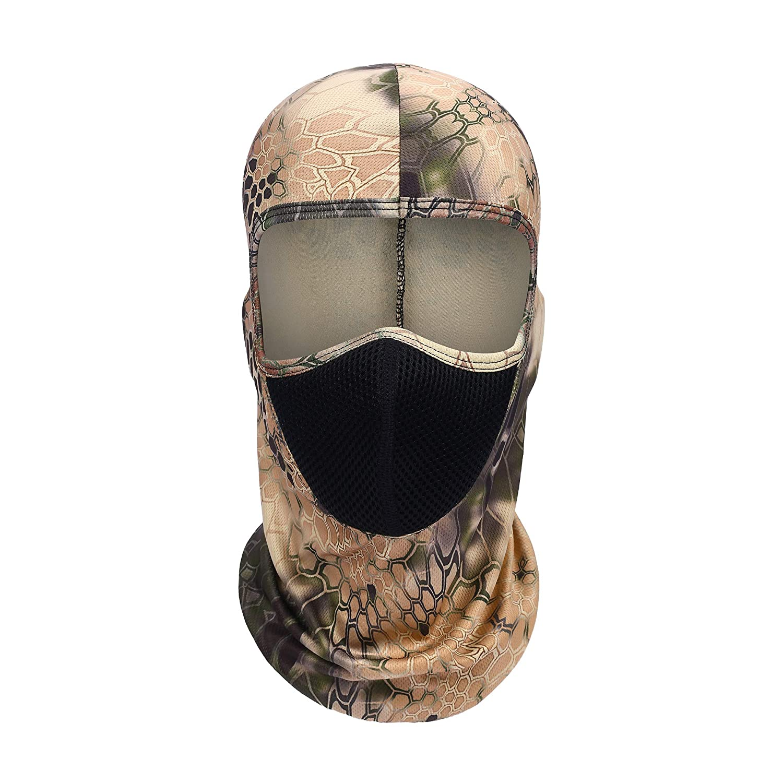 TAGVO Caccia Passamontagna Mesh Tactical Hood Caccia Airsoft Maschera Sport Outdoor Headwear Caschi da Ciclismo Fodera Universale Taglia Unisex