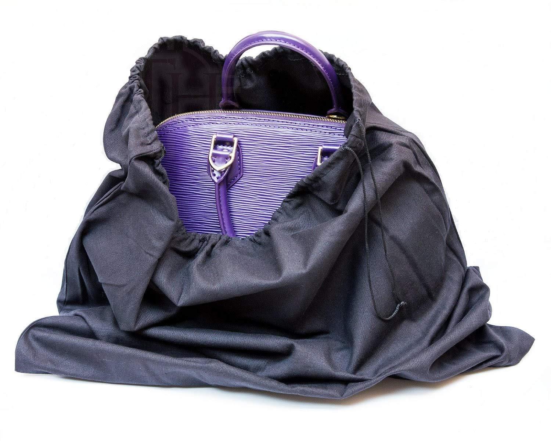 Tiffany Hansen's Cotton Large Drawstring Shoe & Purse Travel Storage Bag (8 Pack) Black by Tiffany Hansen Designs