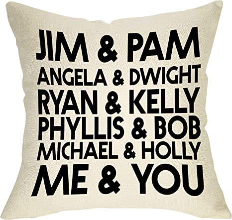 Jim & Pam The Office Funny Pillow