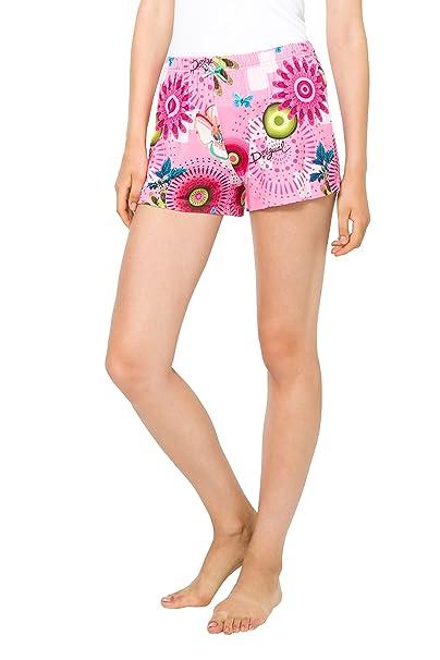 Desigual 61NL1P1, Pantalones de Pijama para Mujer, Rosa (Bubblegum), 40
