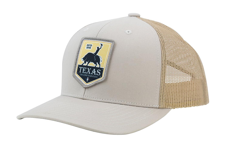 05c2ba062e550 Amazon.com  Camoris Men s Texas Rodeo Logo Baseball Cap Trucker Hat (Chrome  Yellow Grey)  Sports   Outdoors