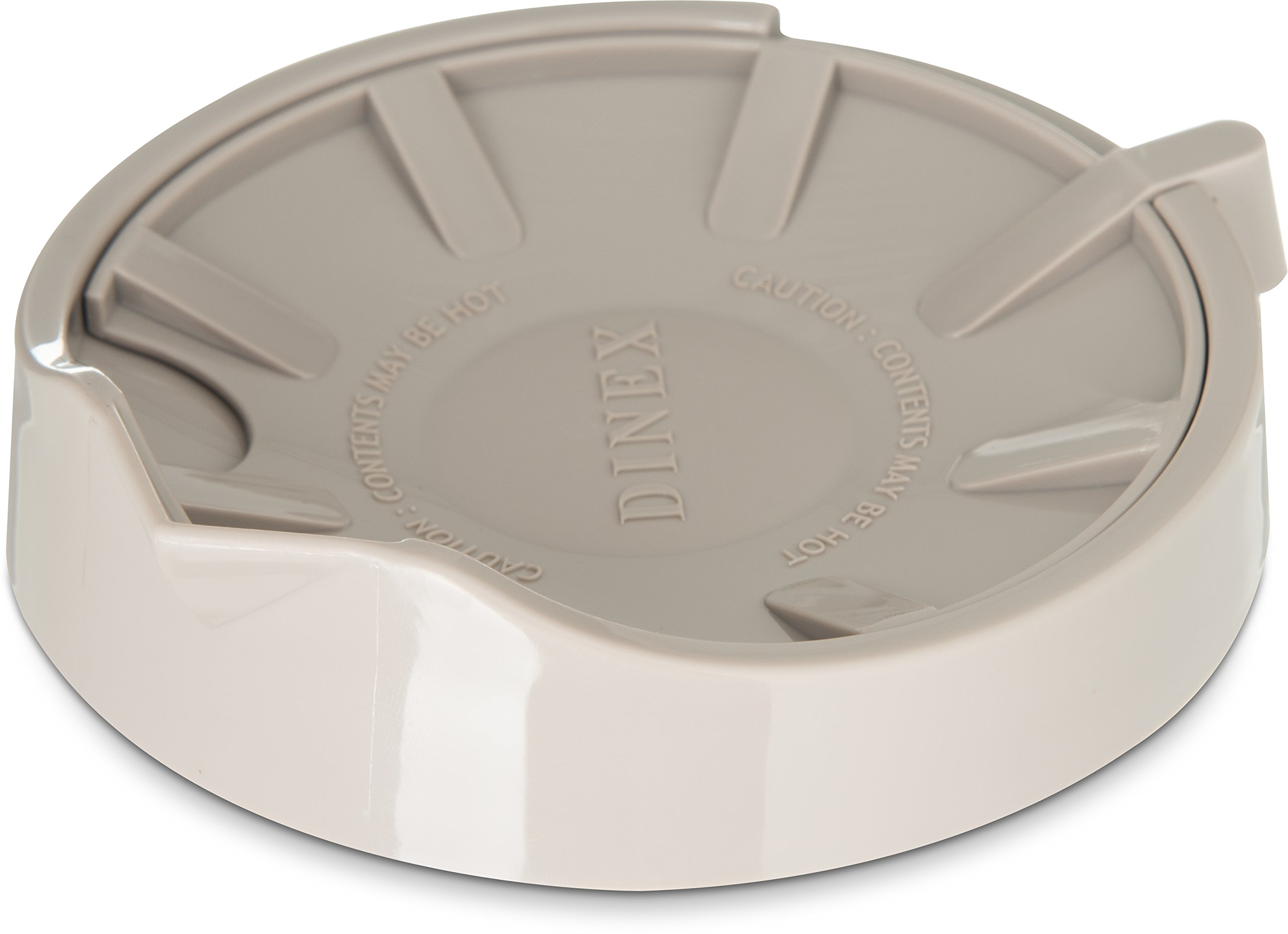 Dinex DX115631 Beverage Server Replacement Lid for DX1160 and DX1150, 0.5'' Height, 4'' Width, 4'' Length, Urethane Foam, Latte (Pack of 12)
