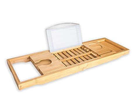 Vassoio Vasca Da Bagno : Premium vassoio per vasca da bagno bruma estensibile