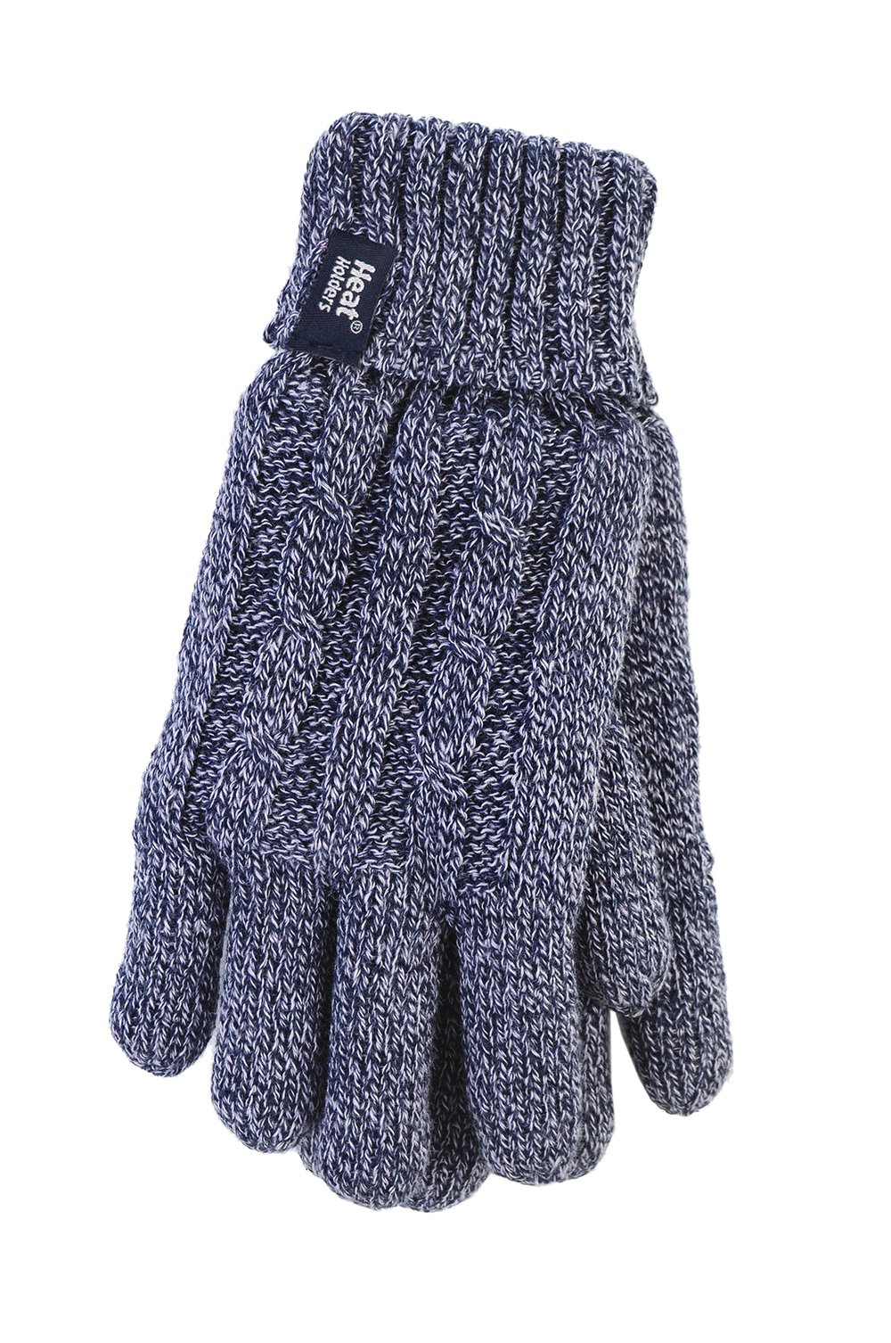 Heat Holders - Women's Thermal Heat Weaver Cable Knit 2.3 Tog Gloves - S/m (Small/Medium, Blue)