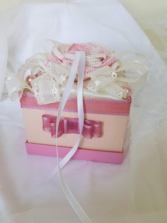 Romantic Wedding Ring Cushion Heart Ring Box Shaped Wedding Ring ...