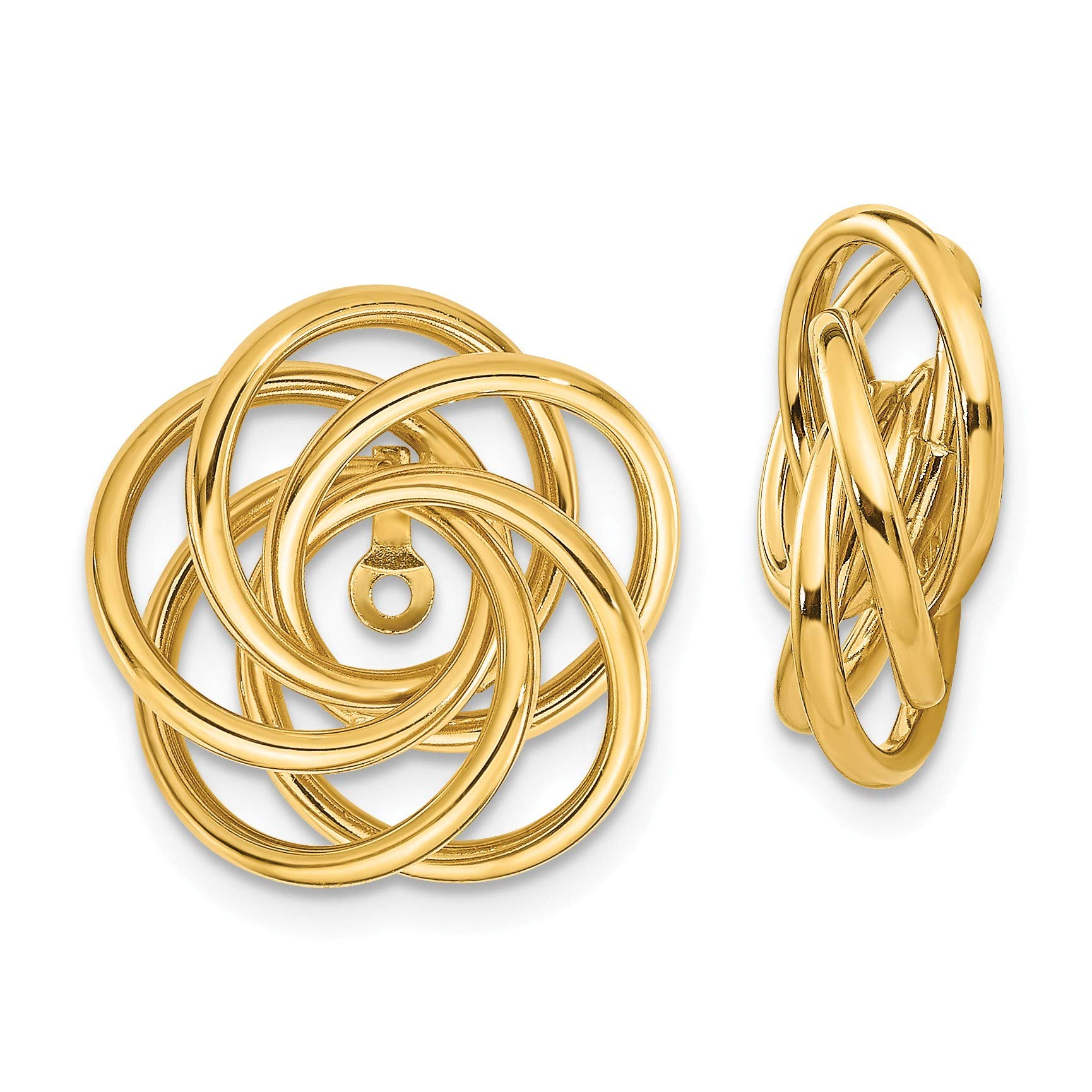 14k Polished Love Knot Earring Jackets in 14k Yellow Gold