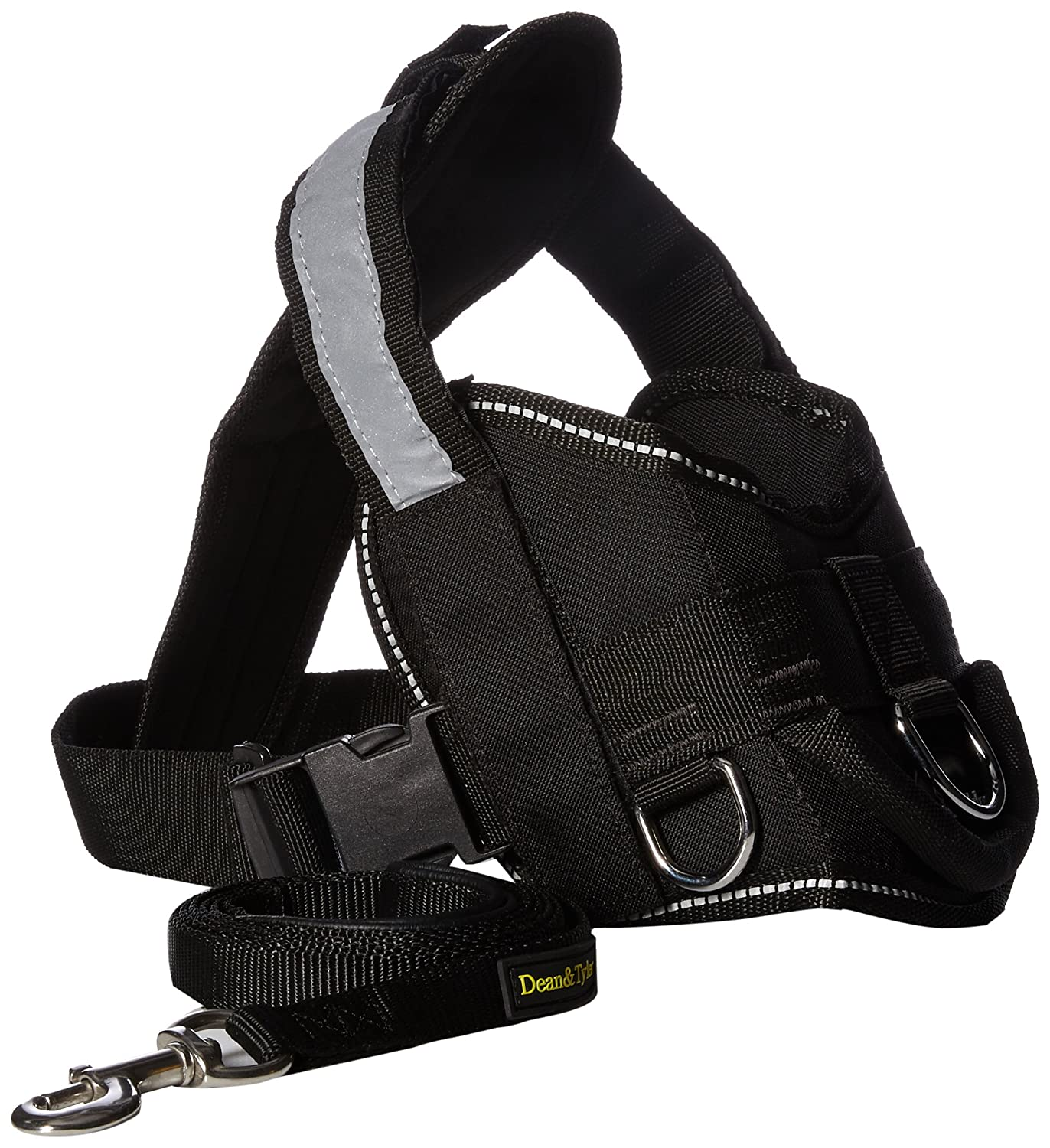 Dean & Tyler Seizure Alert Service Dog Harness with Padded Puppy Leash, Small, Black