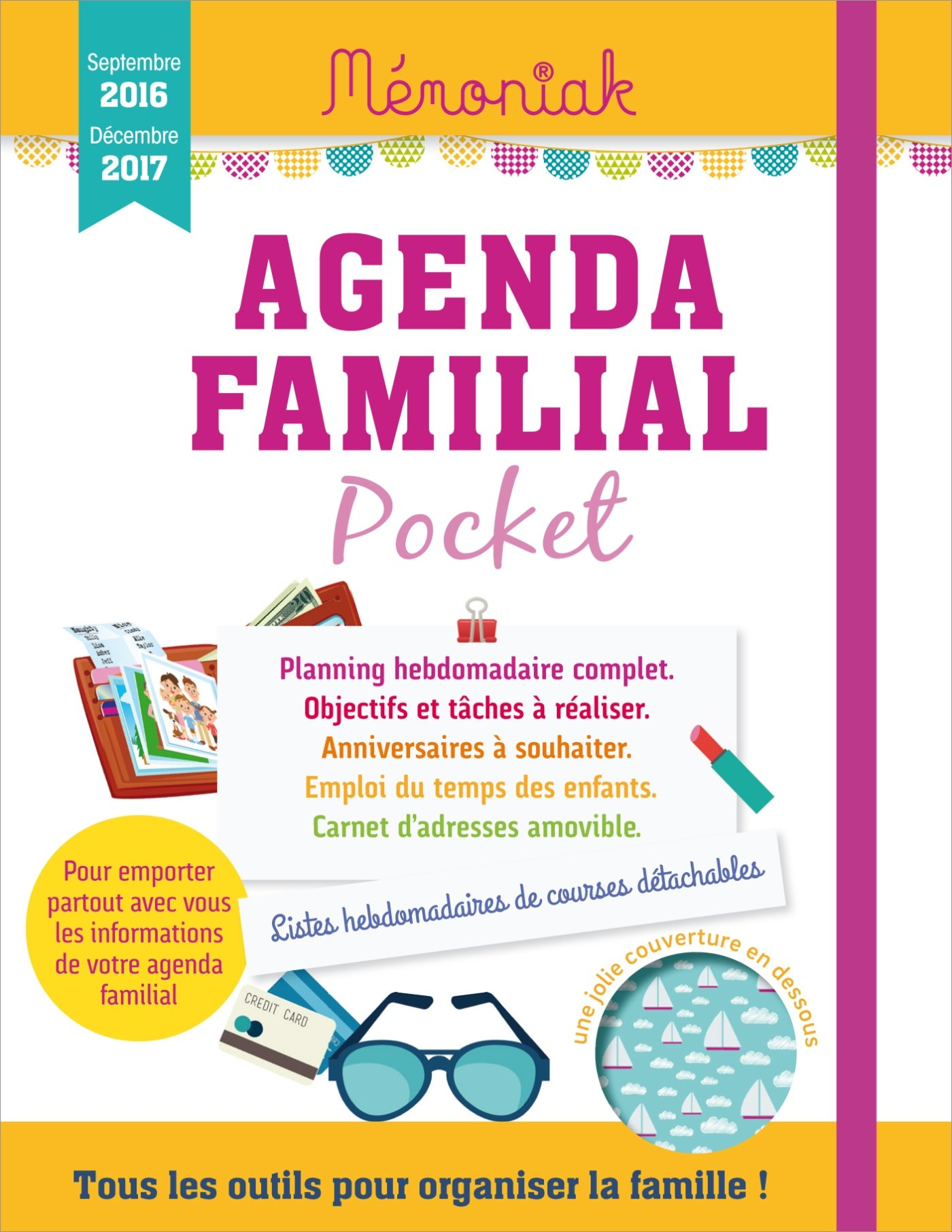 Agenda familial Mémoniak pocket 2016-2017: Amazon.es ...