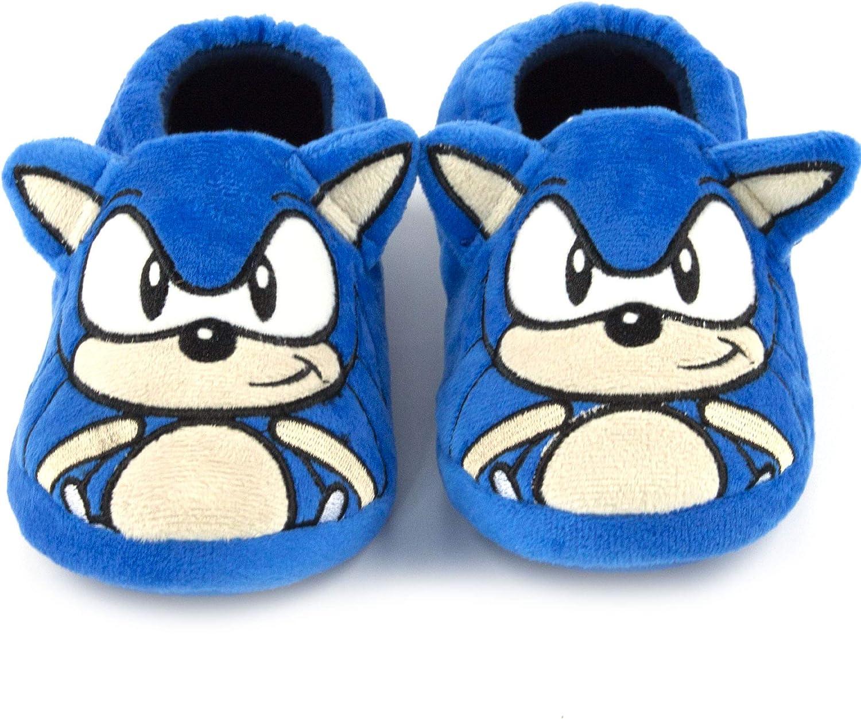 Zapatillas de Caracteres Sonic The Hedgehog Bordado Cara 3D o/ídos de ni/ño