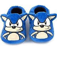 Sonic The Hedgehog Slippers Kids Plush Bordado Cara Zapatos de Caracteres 3D