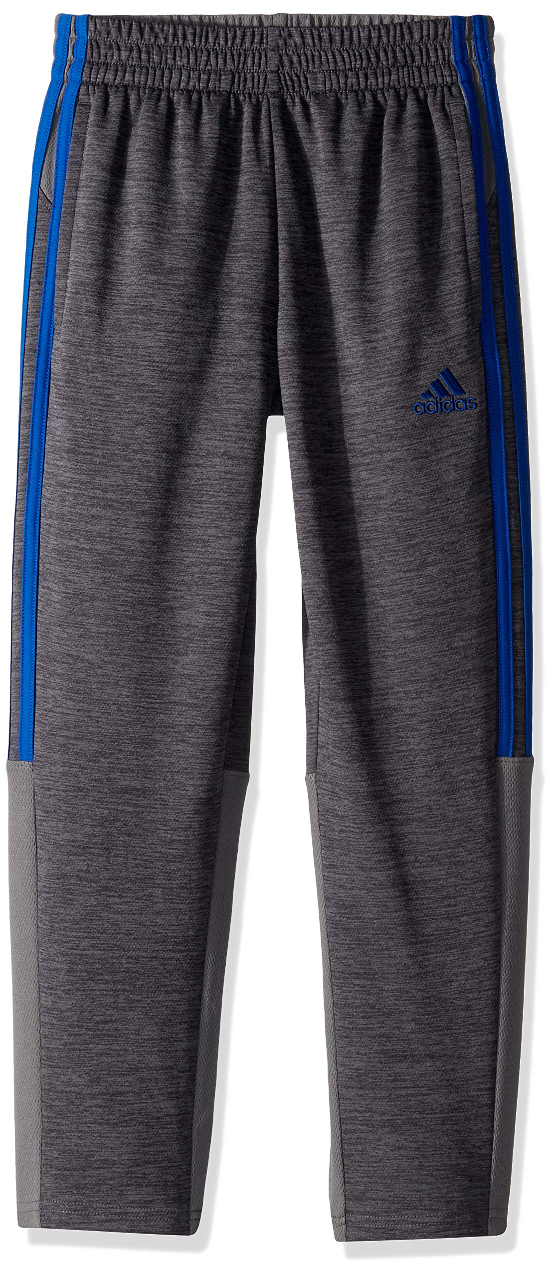 adidas Boys' Big Stay Cool Climalite Athletic Sport Pant, Grey Five Heather/Royal, M (10/12)