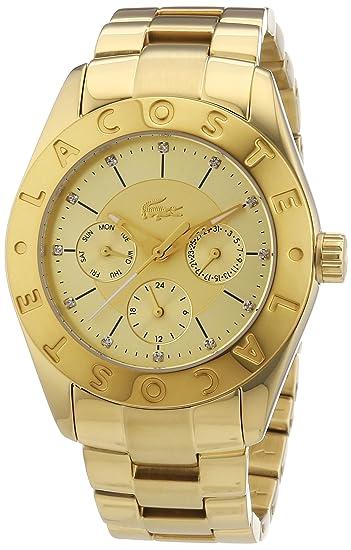 cd2fc7758160c Lacoste - 2000753 - Sport Luxury - Montre Femme - Quartz Analogique -  Cadran Doré - Bracelet Acier Doré: Lacoste: Amazon.ca: Watches