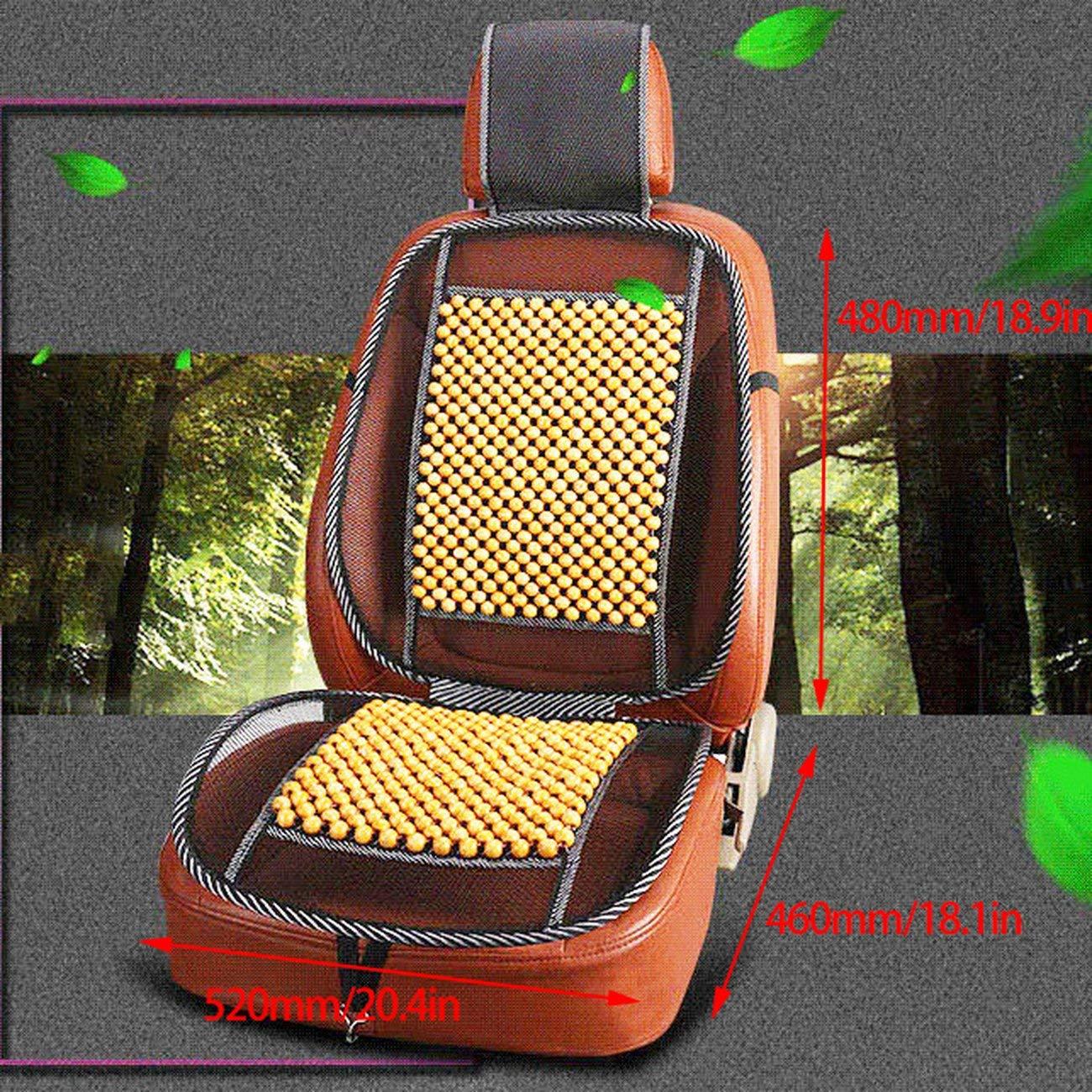 Elviray Masaje universal cuentas de Madera cubierta de asiento de coche Verano cojines de enfriamiento estera de Malla