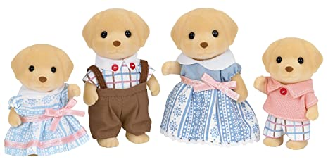 SYLVANIAN FAMILIES Yellow Labrador Family Mini Muñecas y Accesorios Epoch para Imaginar 5182