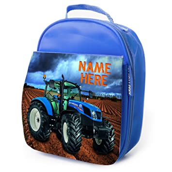 Personalised Lunch Bag New Holland Tractor Nst001 Boys Girls