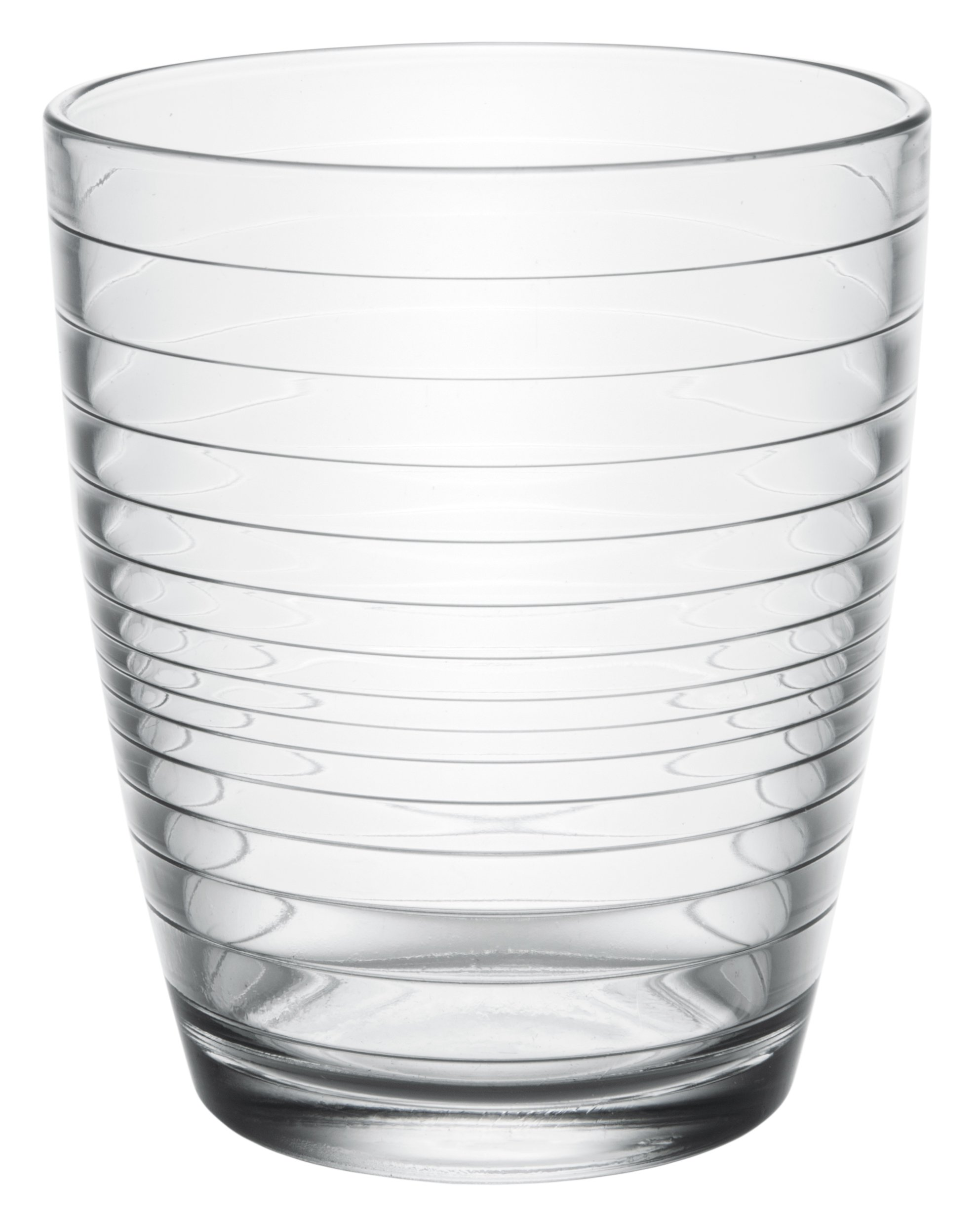 Apollon Modern Clear Glass Short Iced Tea Cups, Drinking Glasses Water Juice Soda Beverage Tumblers, Set of 6, 11 fl oz