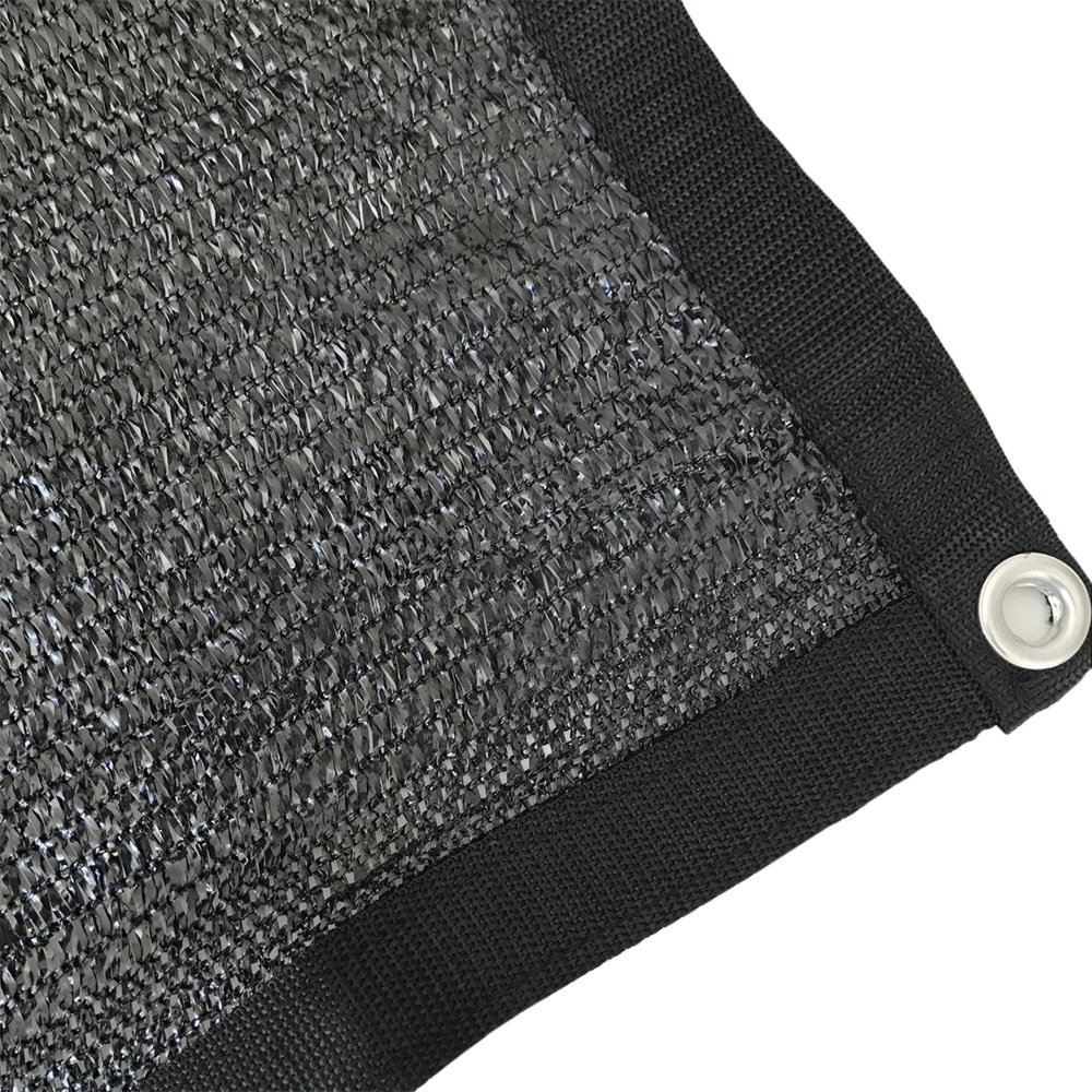 Shatex 80% Sunblock Shade Cloth With Grommets 12x50ft Black for Plant Cover Greenhouse,Barn,Kennel, Pool, Pergola or Carport