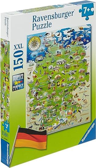meine deutschlandkarte Ravensburger Kinderpuzzle 10049   Meine Deutschlandkarte   150